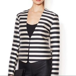 NWT Dolce Vita Black and White Striped Crop Blazer